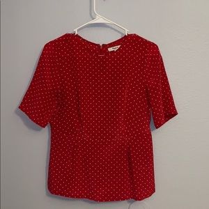 Madewell • 100% Silk Red Top